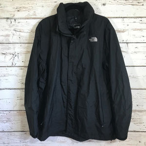 The North Face Black Zip up Hooded Jacket